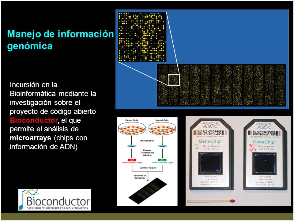 Incursión en la Bioinformática mediante la investigación sobre el proyecto de código abierto Bioconductor, el que permite el análisis de microarrays (