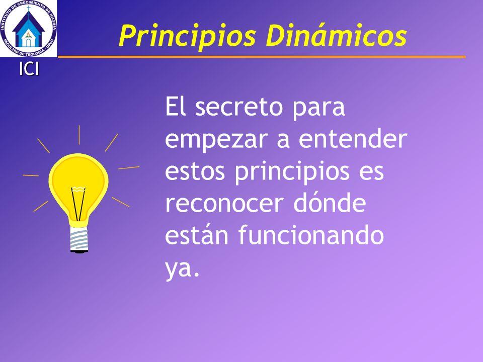 El secreto para empezar a entender estos principios es reconocer dónde están funcionando ya. Principios Dinámicos ICI