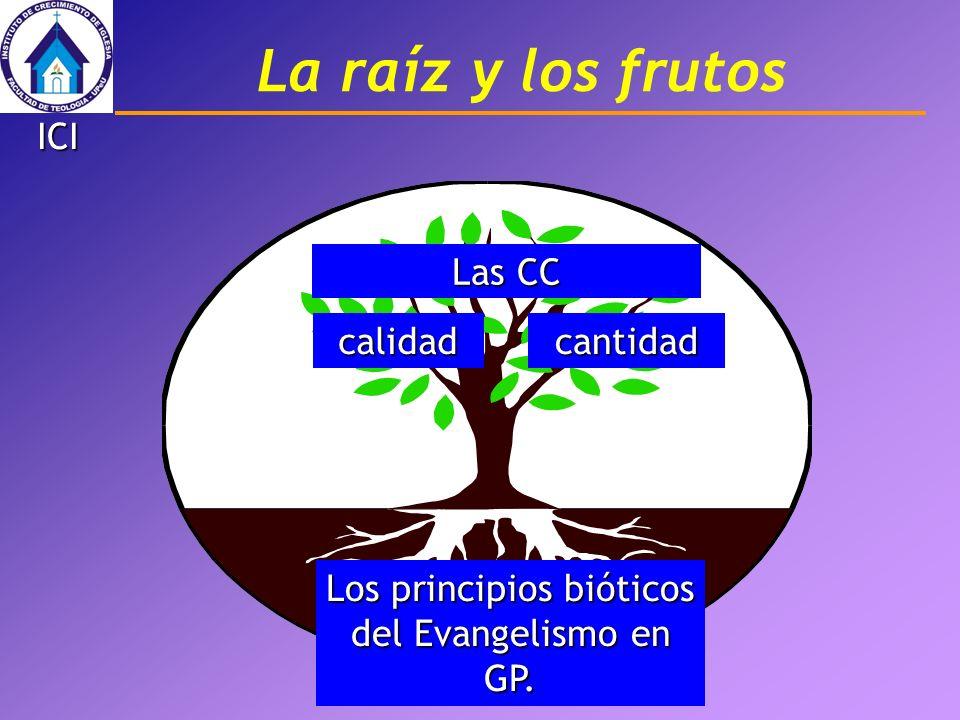 Los principios bióticos del Evangelismo en GP. Las CC La raíz y los frutos calidadcantidad ICI