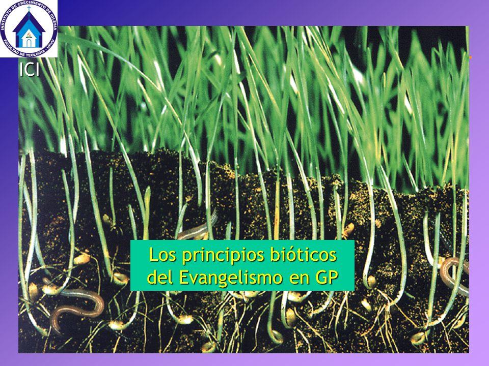 Los principios bióticos del Evangelismo en GP ICI