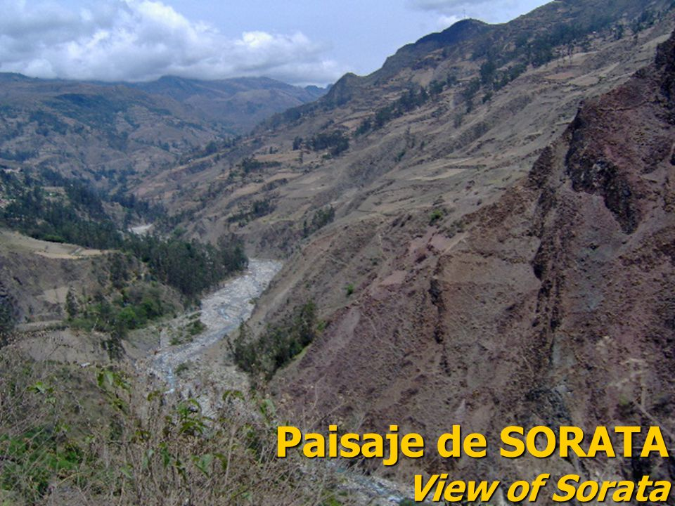 Paisaje de SORATA View of Sorata