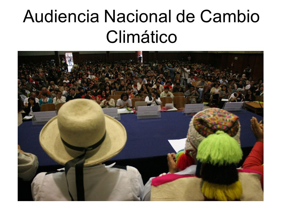 Audiencia Nacional de Cambio Climático