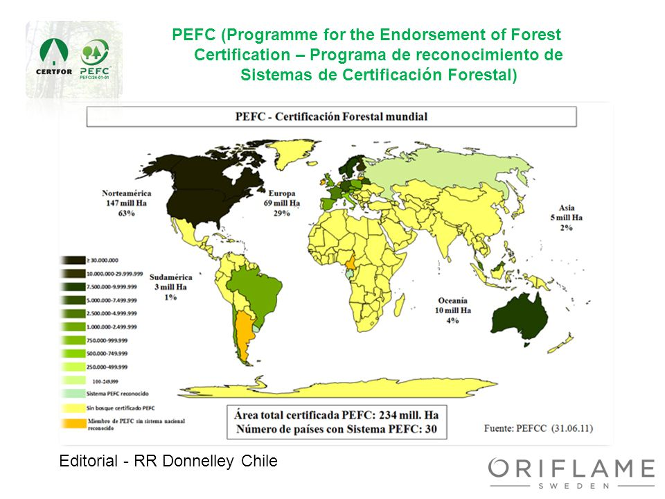 Editorial - RR Donnelley Chile PEFC (Programme for the Endorsement of Forest Certification – Programa de reconocimiento de Sistemas de Certificación F