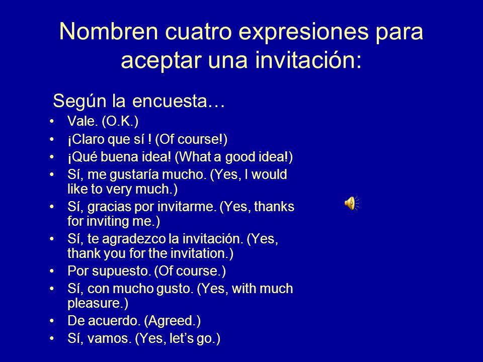 4.¿Cómo se dice en español? Perhaps/Maybe another time. Quizás/Tal vez otro tiempo.