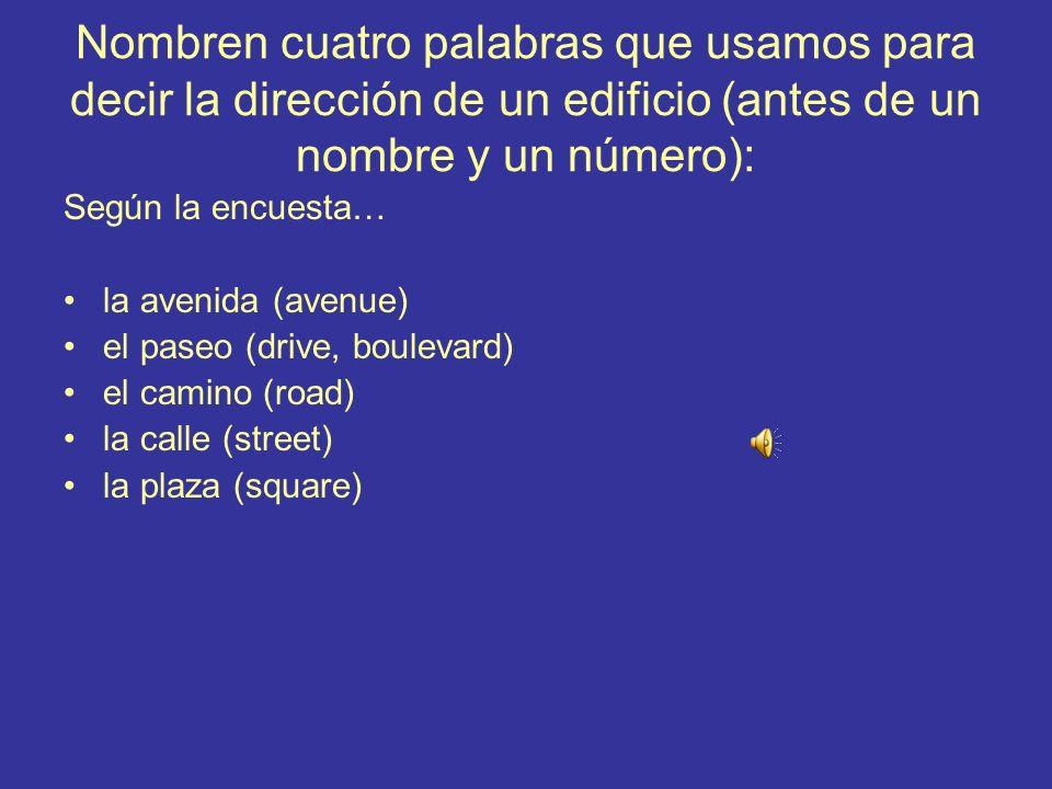 9.¿Cómo se dice en español? It is five minutes from here. Está/Queda a cinco minutos de aquí.