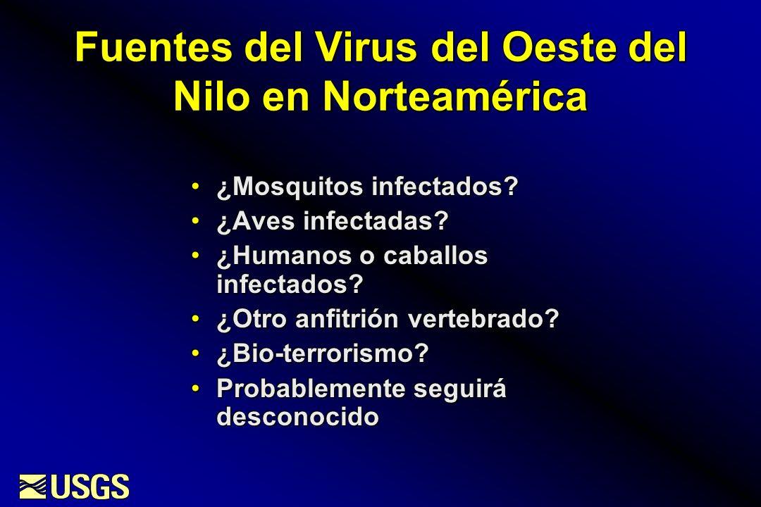 Expansión del Virus del Oeste del Nilo: 1999-2002 1999 2000 2001 2002