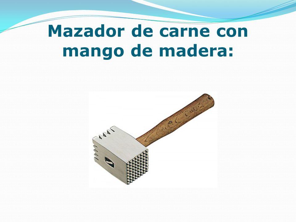 Mazador de carne con mango de madera: