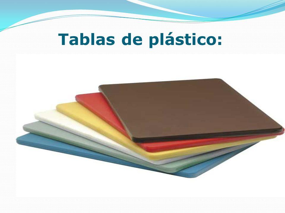 Tablas de plástico: