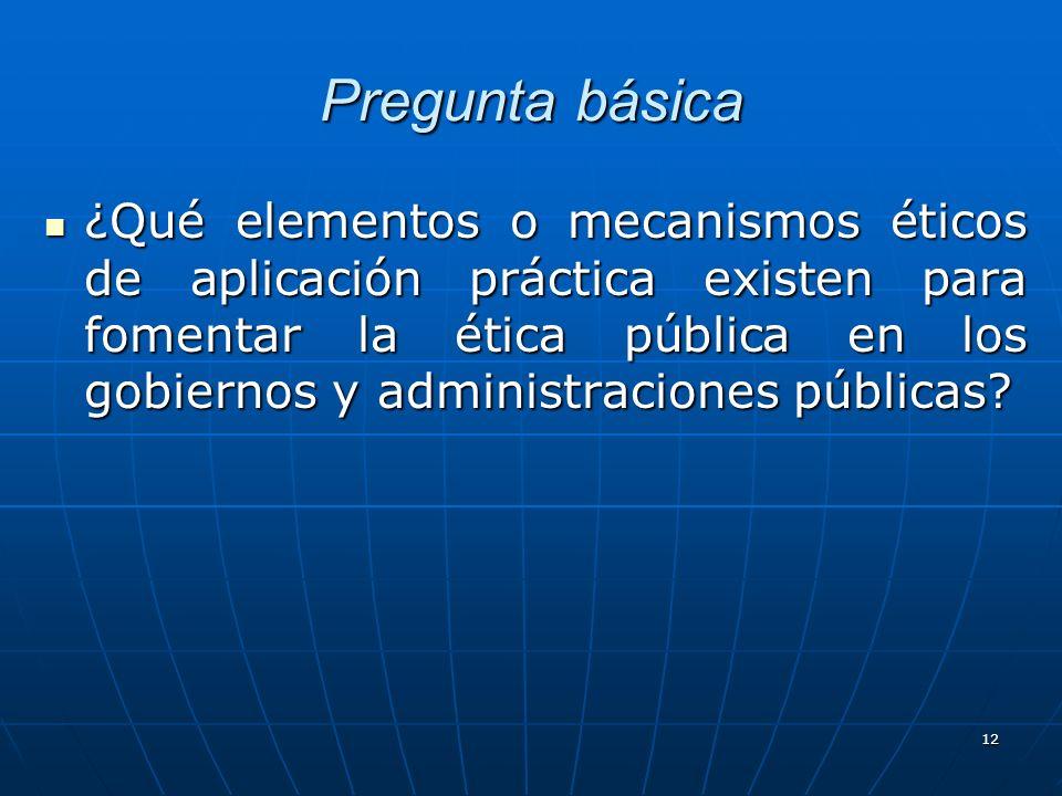 13 Elementos para la institucionalización de la ética Conciencia sobre la importancia de la ética Conciencia sobre la importancia de la ética Voluntad política Voluntad política Asignación de un responsable (Consejo Ético) Asignación de un responsable (Consejo Ético) Marco jurídico (Ley de ética de Gobierno) Marco jurídico (Ley de ética de Gobierno) Marco normativo (Códigos de Ética) Marco normativo (Códigos de Ética) Profesional en ética pública (expertos en la materia) Profesional en ética pública (expertos en la materia) Un lugar de operación (oficina de ética u organismo) Un lugar de operación (oficina de ética u organismo) Mecanismos de vigilancia, seguimiento y control de la conducta de los SP (Transparencia, rendición de cuentas, acceso a la información, observatorios) Mecanismos de vigilancia, seguimiento y control de la conducta de los SP (Transparencia, rendición de cuentas, acceso a la información, observatorios) Sistema de quejas y denuncias ciudadanas Sistema de quejas y denuncias ciudadanas Sistema de sanciones ejemplares Sistema de sanciones ejemplares Vinculación con los ámbitos privado y social Vinculación con los ámbitos privado y social Red de ética global Red de ética global