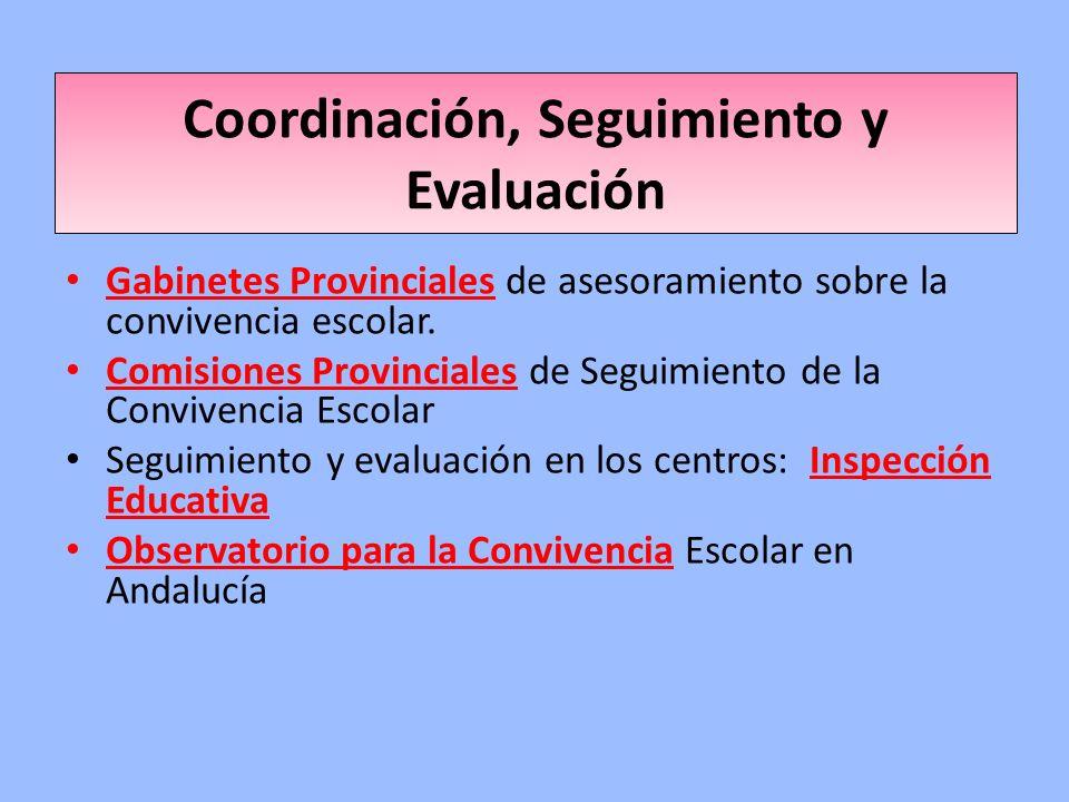 Coordinación, Seguimiento y Evaluación Gabinetes Provinciales de asesoramiento sobre la convivencia escolar. Comisiones Provinciales de Seguimiento de