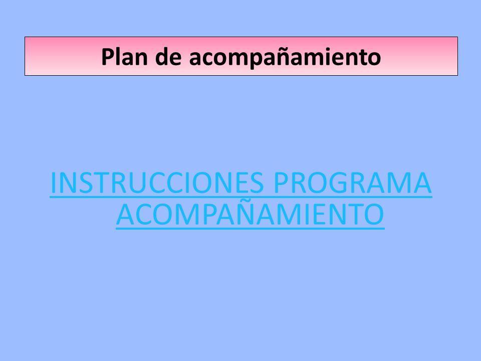 Plan de acompañamiento INSTRUCCIONES PROGRAMA ACOMPAÑAMIENTO
