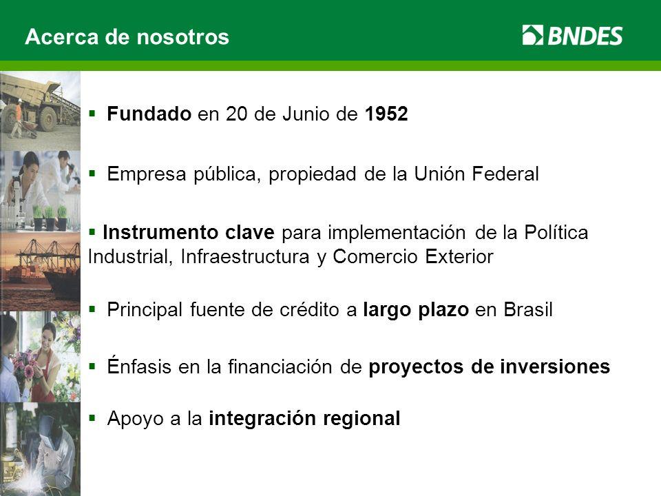 Acerca de nosotros Fundado en 20 de Junio de 1952 Empresa pública, propiedad de la Unión Federal Instrumento clave para implementación de la Política