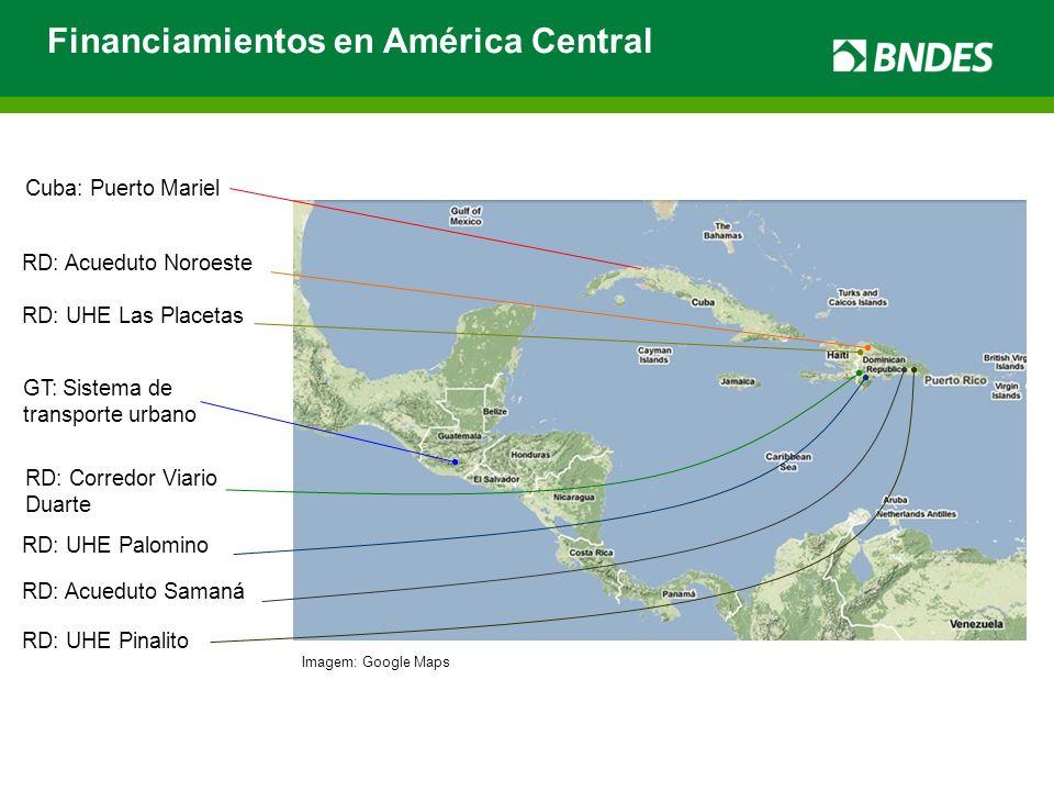 Financiamientos en América Central RD: UHE Las Placetas RD: UHE Pinalito RD: Acueduto Noroeste RD: UHE Palomino RD: Corredor Viario Duarte RD: Acuedut