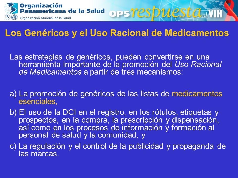 2003 Los Genéricos y el Uso Racional de Medicamentos Las estrategias de genéricos, pueden convertirse en una herramienta importante de la promoción de