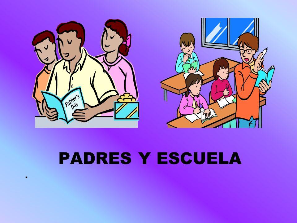 PADRES Y ESCUELA UN TRABAJO EN EQUIPO ENTRE: LOS PADRES Y LOS HIJOS, LOS PADRES Y PROFESORES, PROFESORES Y LOS ESTUDIANTES, AYUDARÁ A CONSEGUIR ESTUDIANTES MOTIVADOS, EFICIENTES Y RESPONSABLES ESTUDIO: Horario Personal -Ayudar a sus hijos en los estudios.
