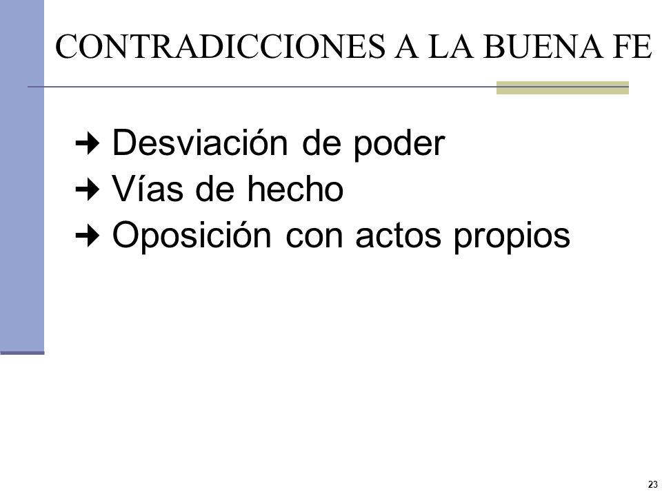 22 5.Contradicciones a la buena fe