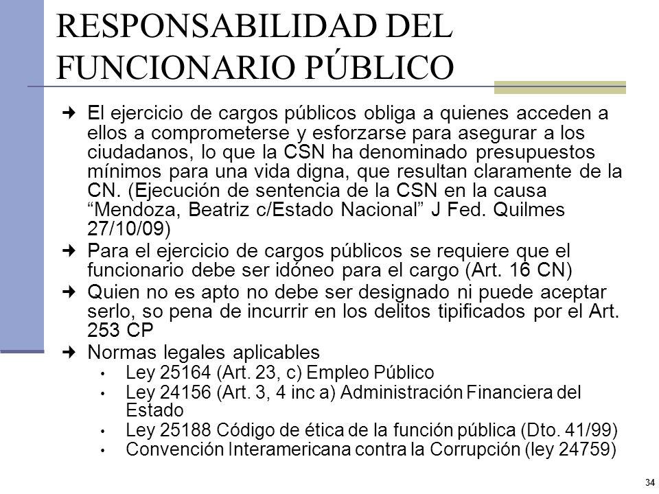 33 7.La responsabilidad del funcionario público