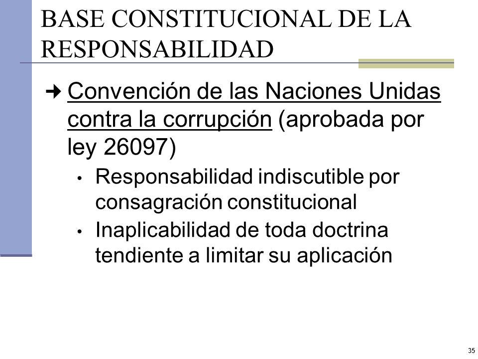 34 RESPONSABILIDAD DEL FUNCIONARIO PÚBLICO El ejercicio de cargos públicos obliga a quienes acceden a ellos a comprometerse y esforzarse para asegurar