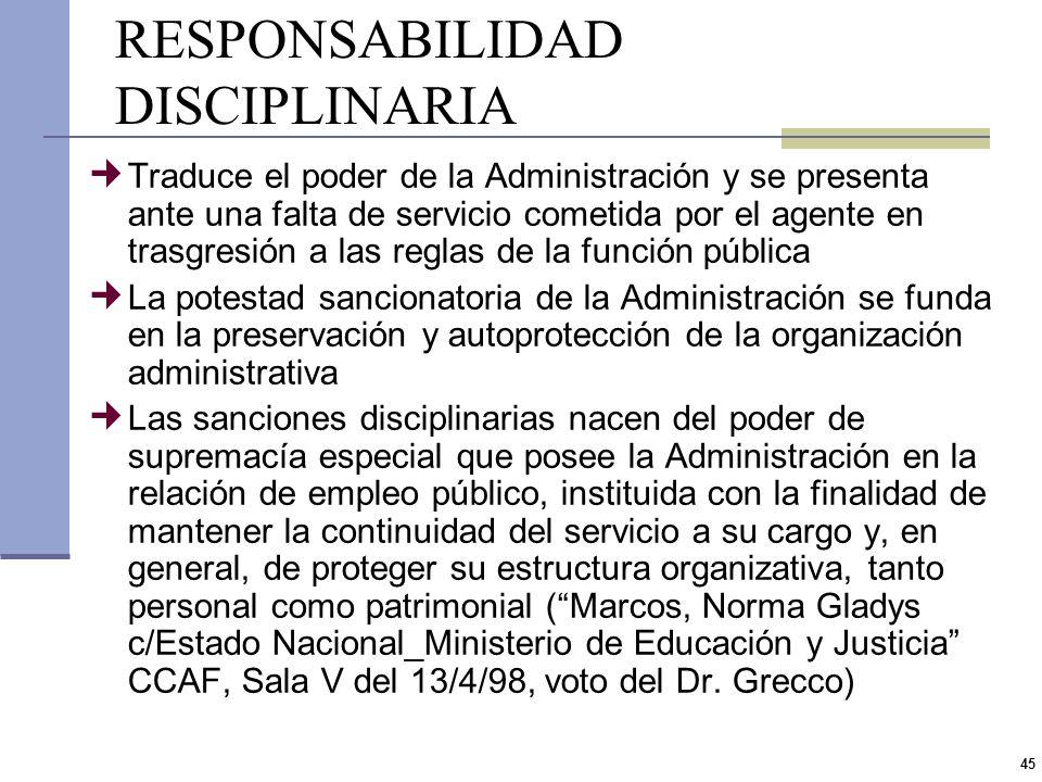 44 RESPONSABILIDAD CIVIL Comportamiento doloso o culposo del funcionario, del cual se deriva un daño o perjuicio a terceros ajenos a la administración