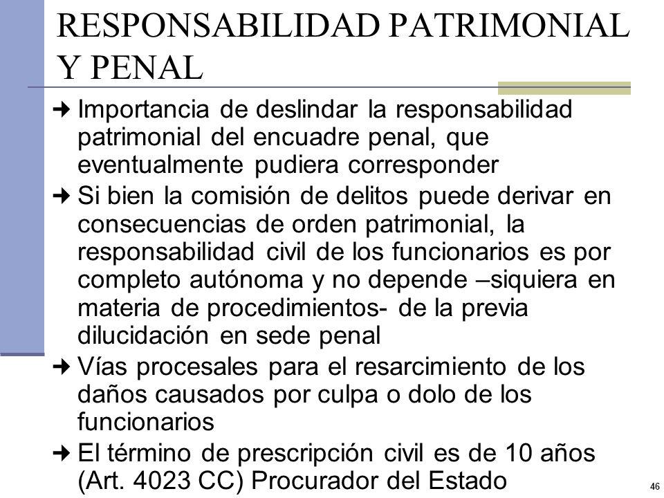 45 RESPONSABILIDAD DISCIPLINARIA Traduce el poder de la Administración y se presenta ante una falta de servicio cometida por el agente en trasgresión