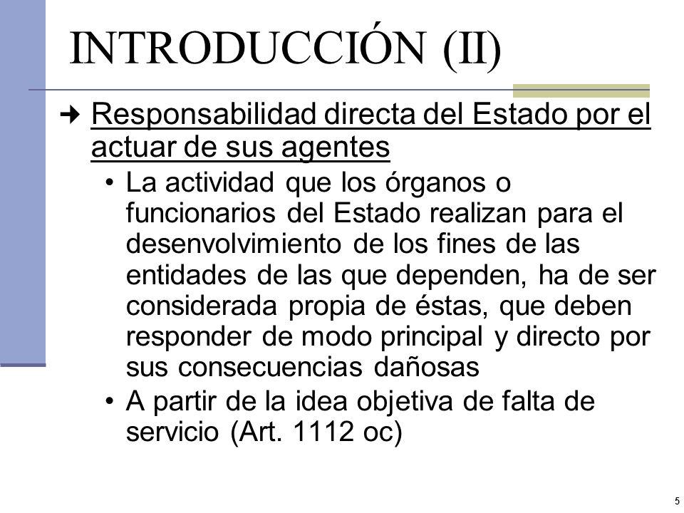 4 INTRODUCCIÓN (I) Es un principio general del derecho que todo aquel que cause un daño a otro debe resarcirlo Por la naturaleza y alcances del servic