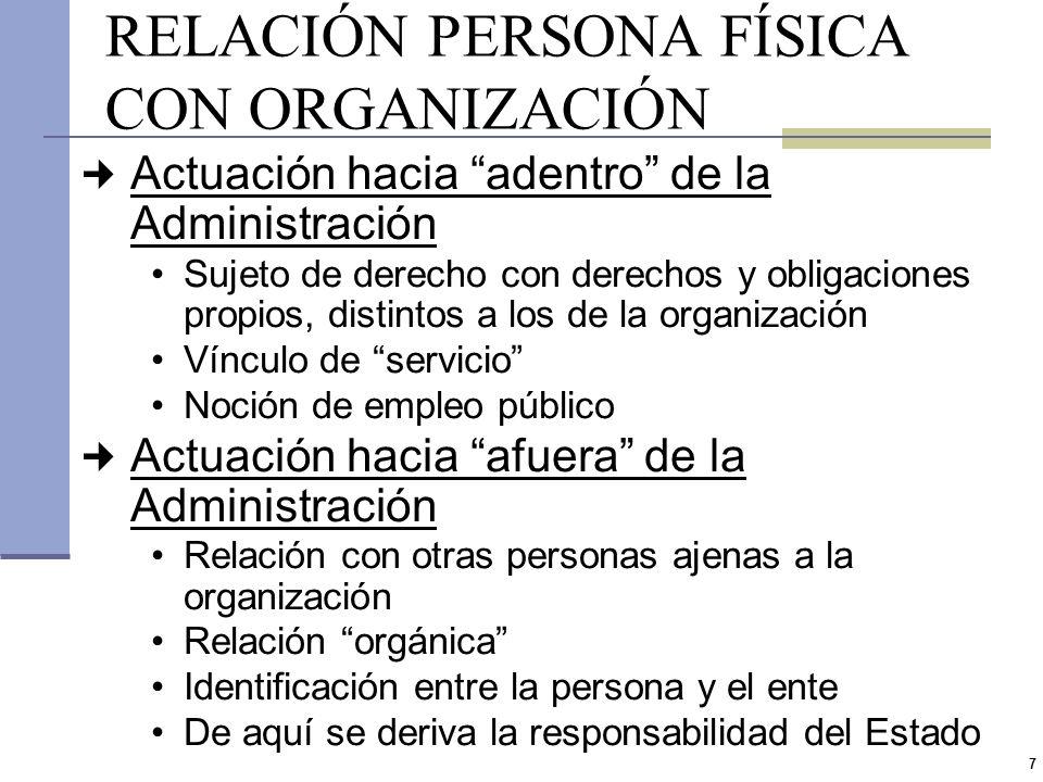 6 INTRODUCCIÓN (III) El enfoque de la responsabilidad de los funcionarios públicos remite a la noción general de órgano administrativo A partir de la