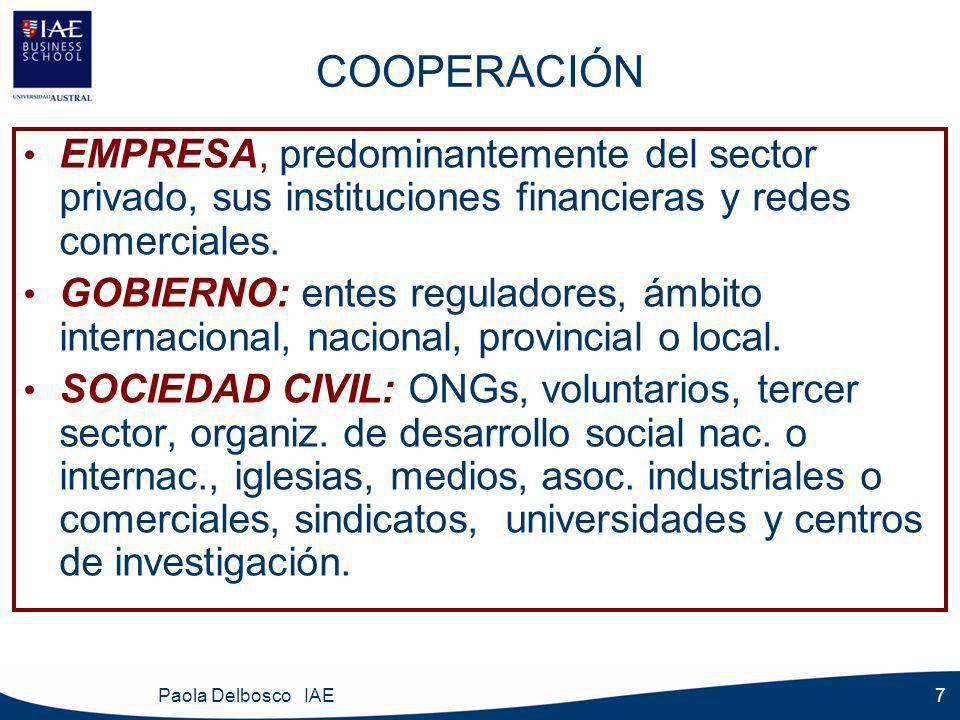 Paola Delbosco IAE 8 ¿SE PUEDE COOPERAR .