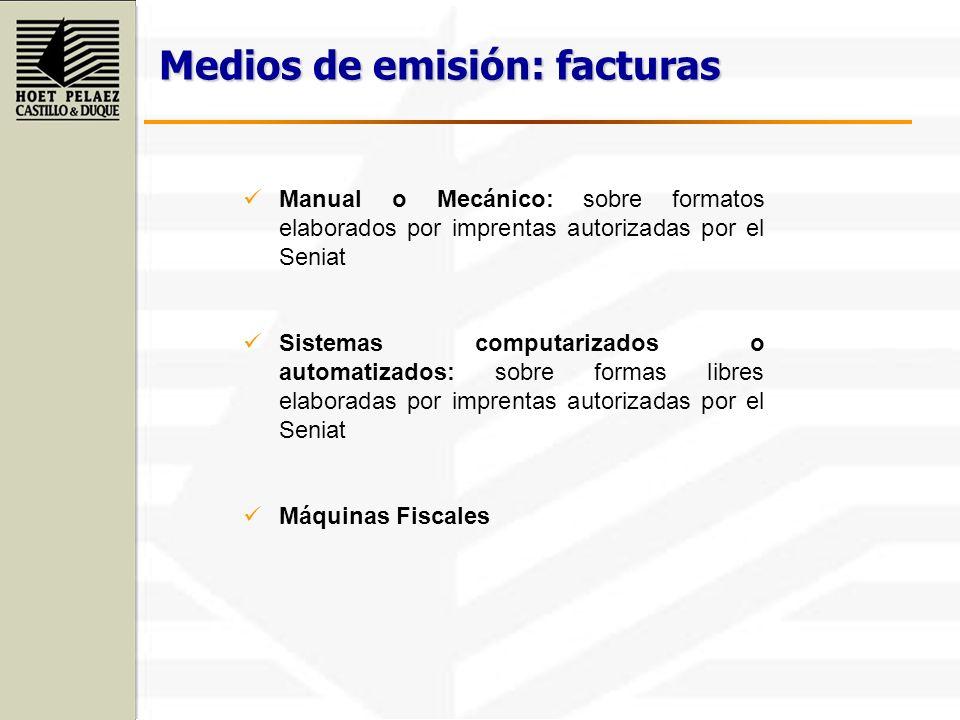 Manual o Mecánico: sobre formatos elaborados por imprentas autorizadas por el Seniat Sistemas computarizados o automatizados: sobre formas libres elab