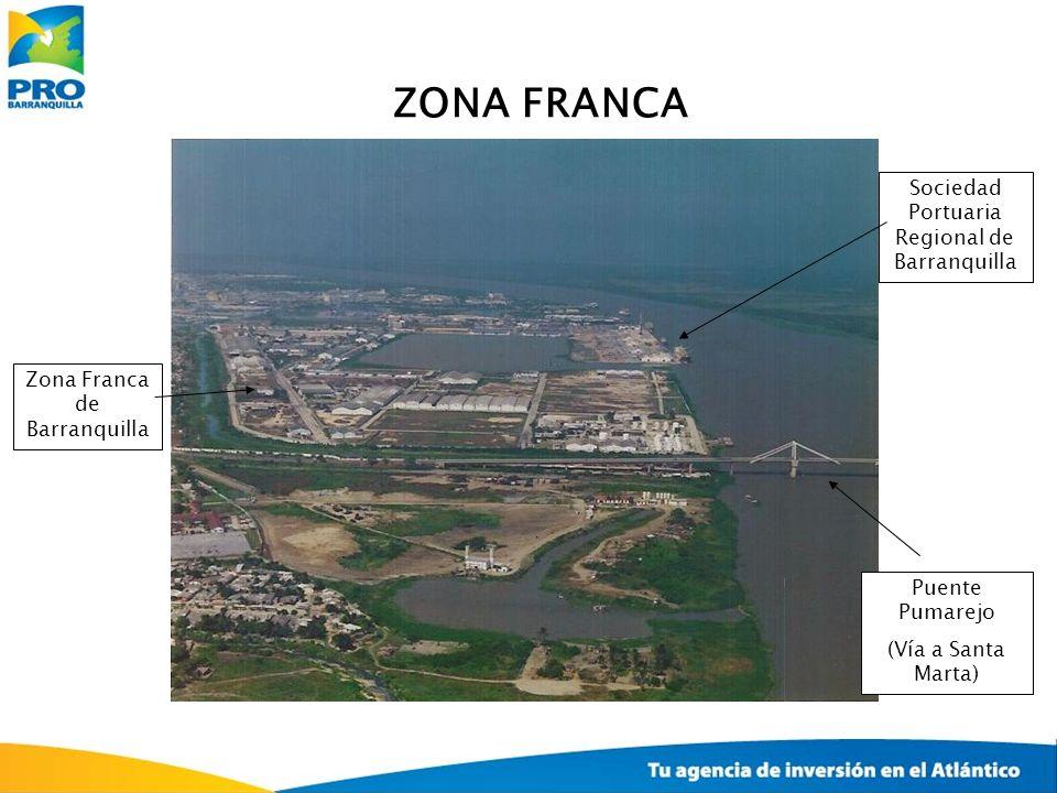 Zona Franca de Barranquilla Sociedad Portuaria Regional de Barranquilla Puente Pumarejo (Vía a Santa Marta) ZONA FRANCA