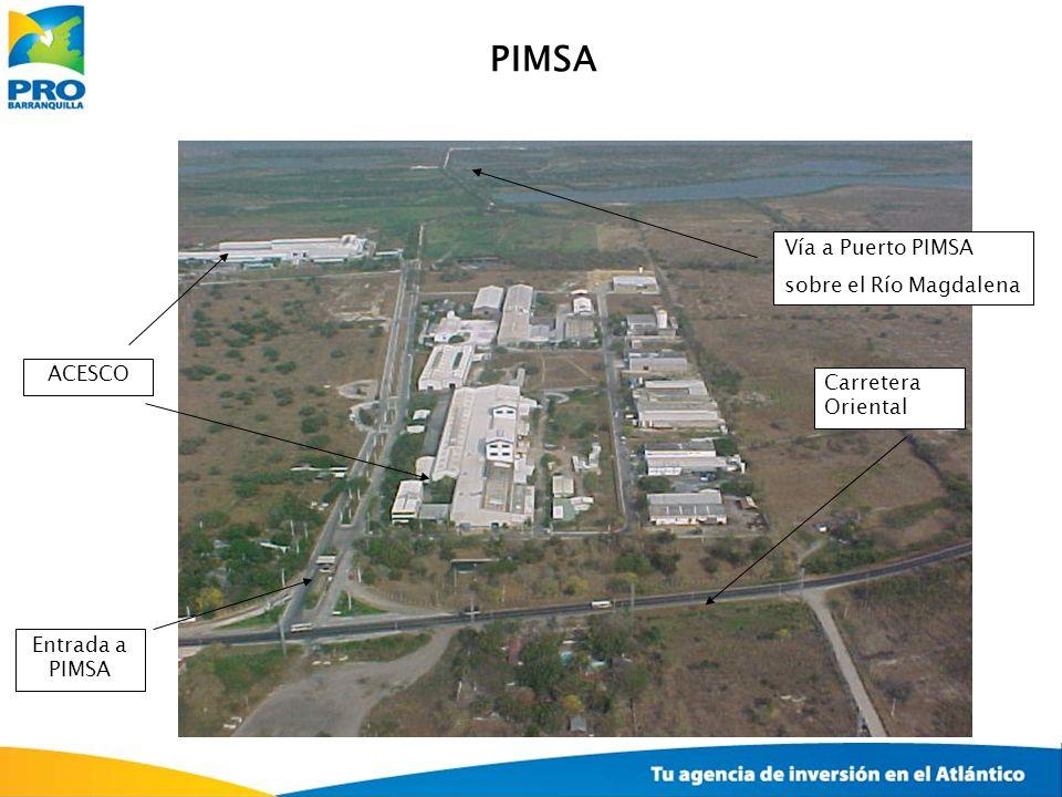 ACESCO Carretera Oriental Vía a Puerto PIMSA sobre el Río Magdalena Entrada a PIMSA PIMSA
