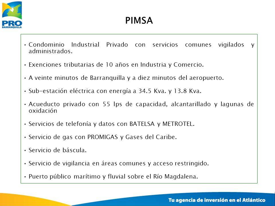Condominio Industrial Privado con servicios comunes vigilados y administrados. Exenciones tributarias de 10 años en Industria y Comercio. A veinte min
