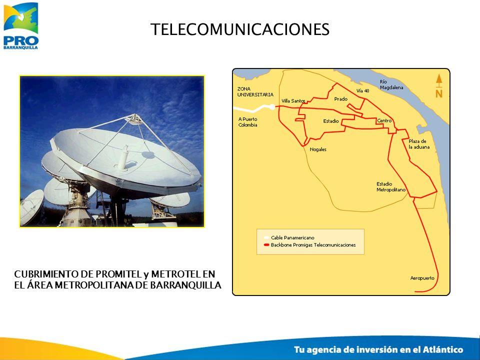 TELECOMUNICACIONES CUBRIMIENTO DE PROMITEL y METROTEL EN EL ÁREA METROPOLITANA DE BARRANQUILLA