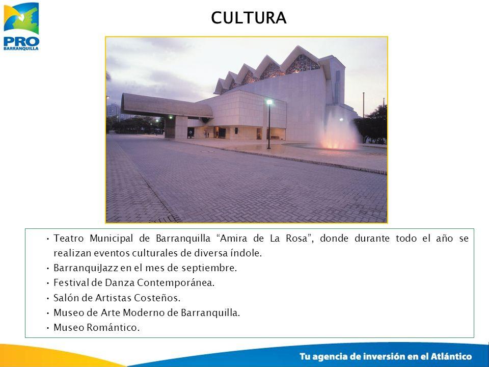 CULTURA Teatro Municipal de Barranquilla Amira de La Rosa, donde durante todo el año se realizan eventos culturales de diversa índole. BarranquiJazz e
