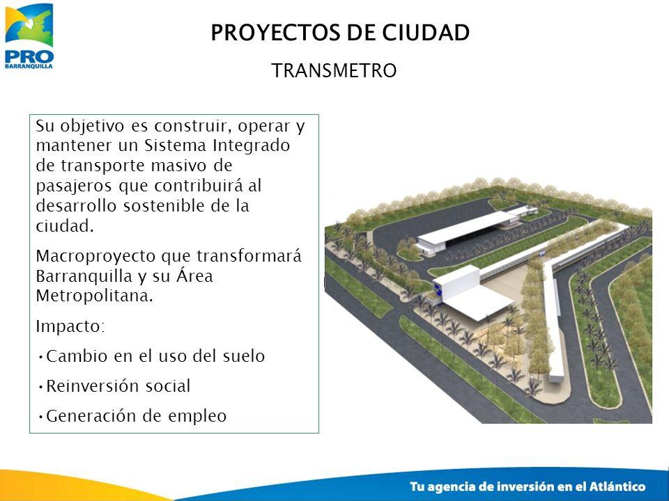 TRANSMETRO Su objetivo es construir, operar y mantener un Sistema Integrado de transporte masivo de pasajeros que contribuirá al desarrollo sostenible