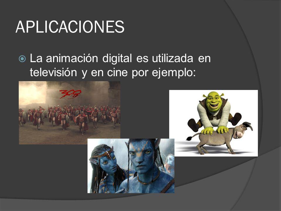 APLICACIONES La animación digital es utilizada en televisión y en cine por ejemplo: