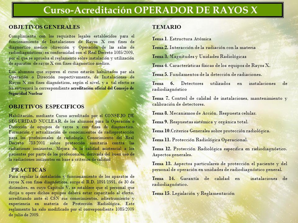 P R Y M A (Ingeniería de protección Radiológica y Gestión Medioambiental) Colegio de Enfermería de Cádiz Plan Docente.