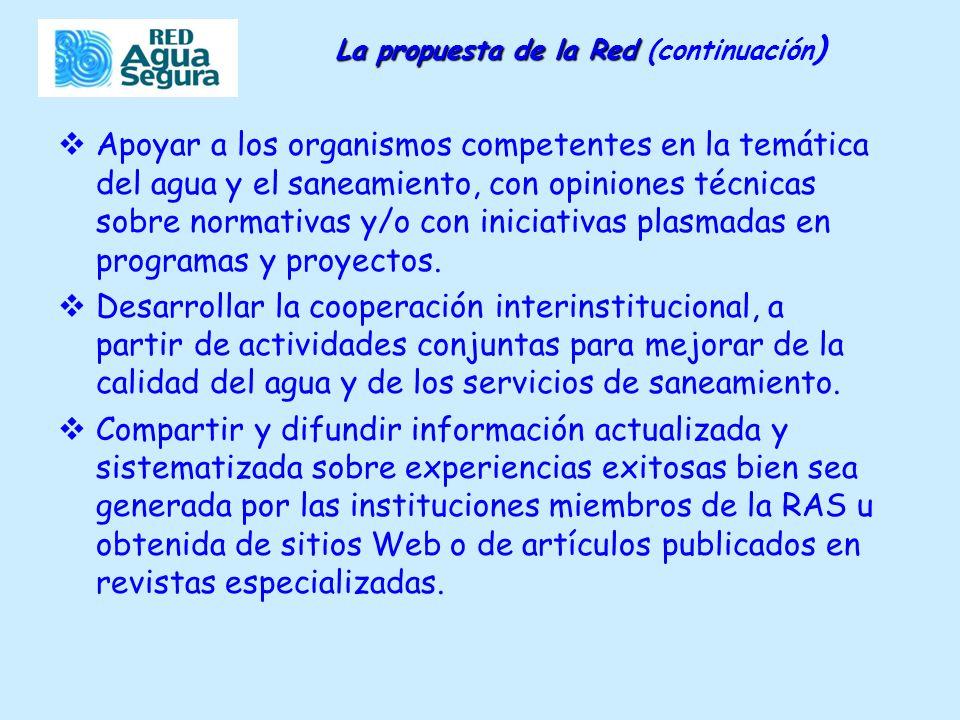 Apoyar a los organismos competentes en la temática del agua y el saneamiento, con opiniones técnicas sobre normativas y/o con iniciativas plasmadas en programas y proyectos.
