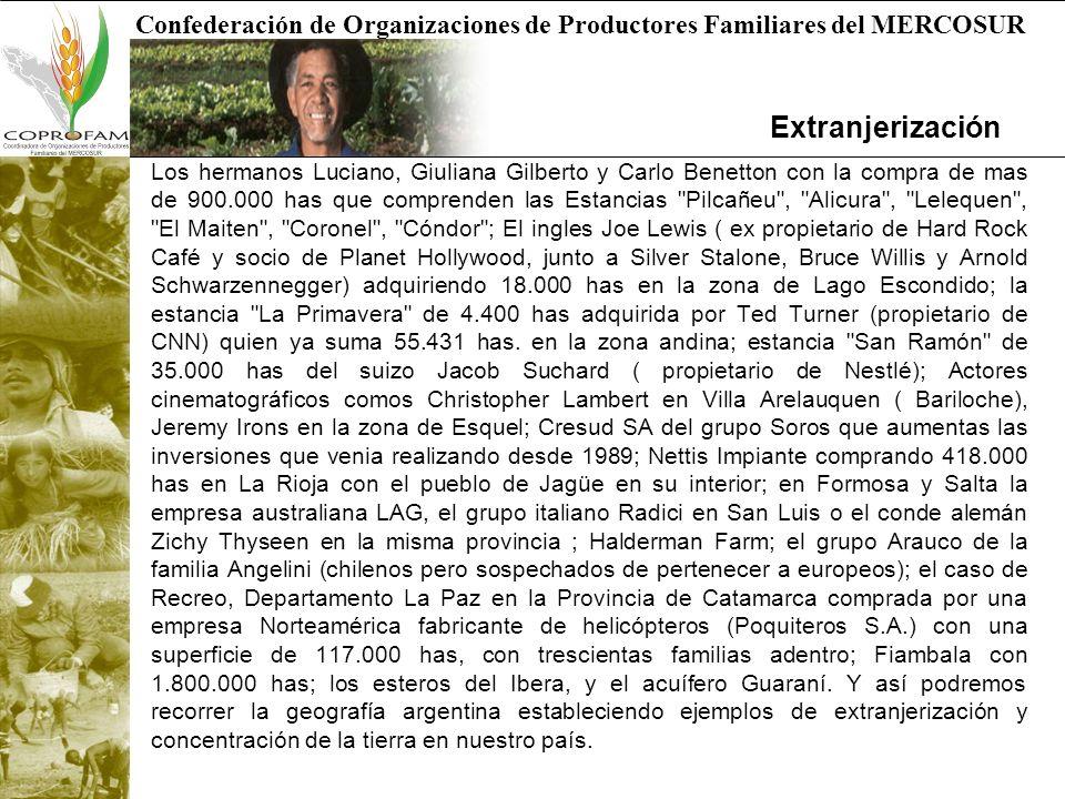 Confederación de Organizaciones de Productores Familiares del MERCOSUR Muchas Gracias Dra.