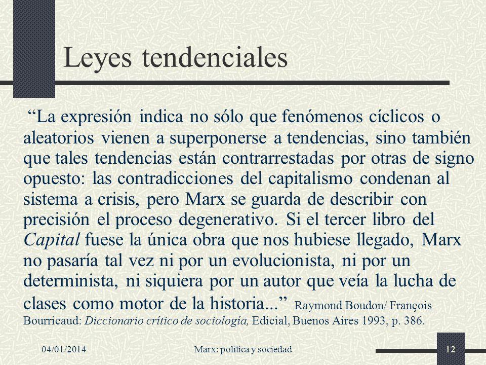 04/01/2014Marx: política y sociedad13 ¿A qué carta nos quedamos.