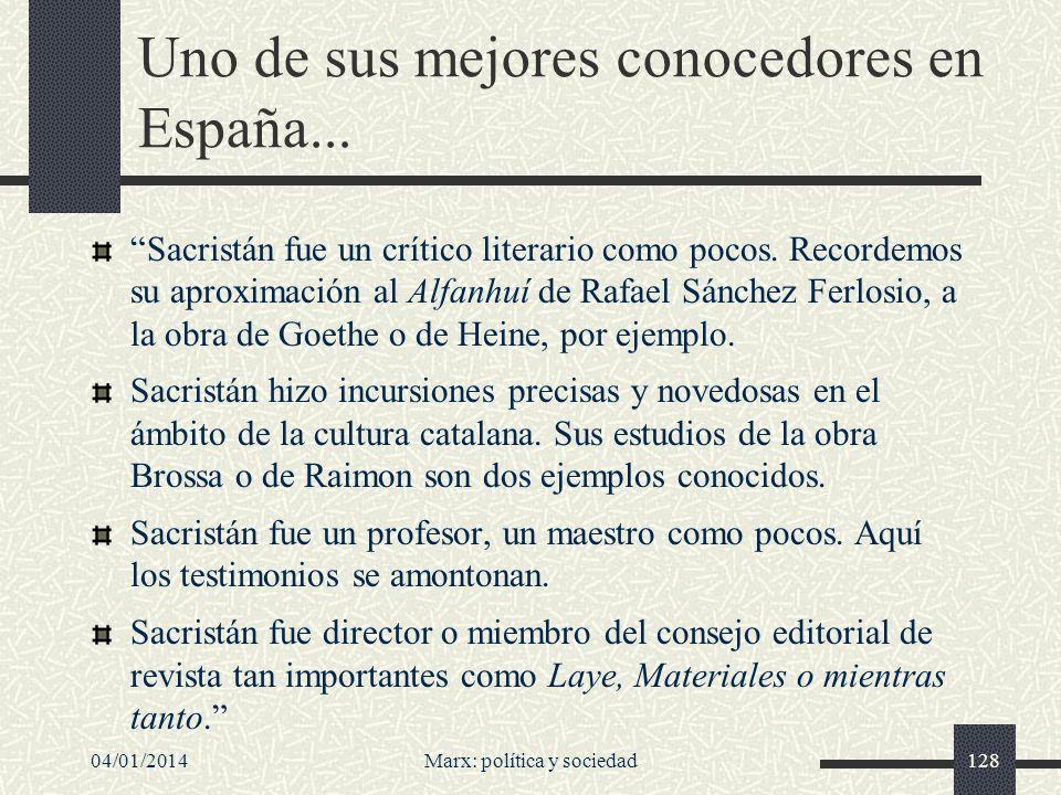 04/01/2014Marx: política y sociedad129...