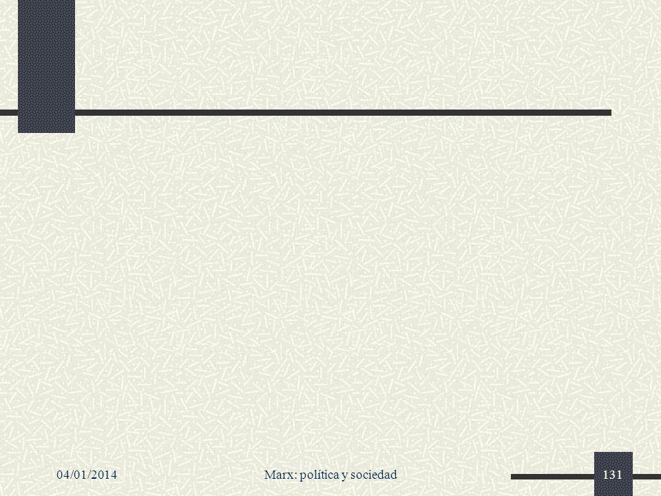 04/01/2014Marx: política y sociedad131