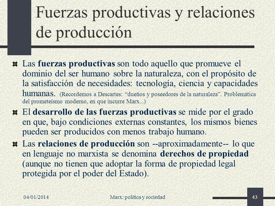 04/01/201444 Marx: valor de uso y valor de cambio El valor de uso de un bien consiste en su aptitud para satisfacer necesidades humanas.