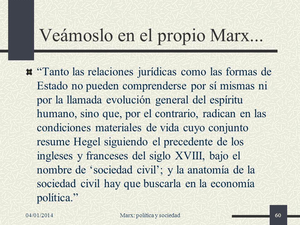 04/01/2014Marx: política y sociedad61...en su famoso prólogo...
