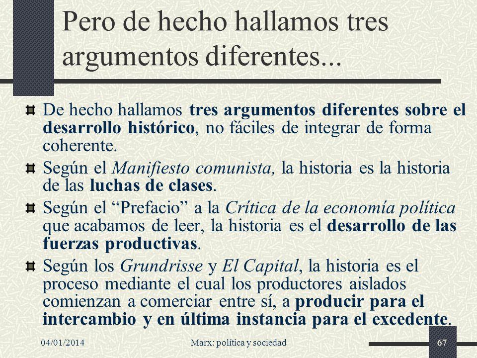04/01/2014Marx: política y sociedad68 ¿Marx historicista.