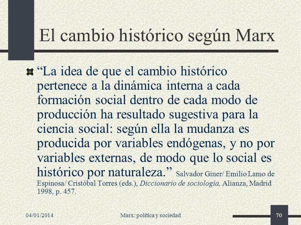 Capacidad anticipatoria Como ha subrayado Joaquim Sempere, Marx fue no sólo un luchador político, sino también y sobre todo un pensador de enorme potencia intelectual.