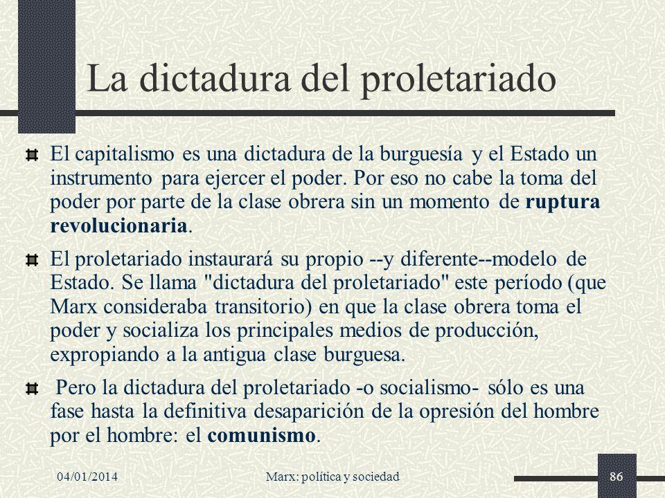 04/01/2014Marx: política y sociedad87 Marx (y Lenin) sobre el tránsito del capitalismo al comunismo Decía Ernest Mandel que, según Marx y Lenin, el tránsito del capitalismo al comunismo es imposible sin 1.