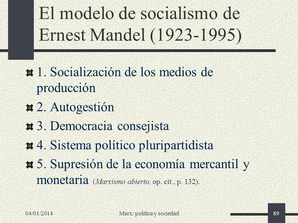 Acerca de la democracia Joaquim Sempere: Se suele atribuir al marxismo una incompatibilidad con la democracia.