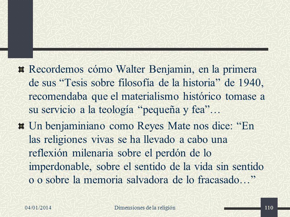 Recordemos cómo Walter Benjamin, en la primera de sus Tesis sobre filosofía de la historia de 1940, recomendaba que el materialismo histórico tomase a