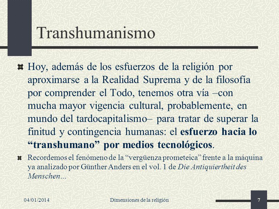 Transhumanismo Hoy, además de los esfuerzos de la religión por aproximarse a la Realidad Suprema y de la filosofía por comprender el Todo, tenemos otr