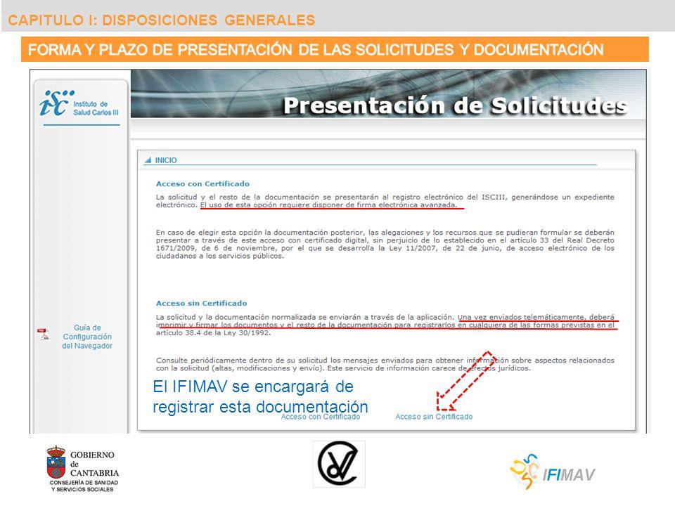 El IFIMAV se encargará de registrar esta documentación